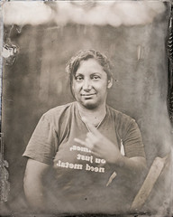 20191011_2169xx (AWelsh) Tags: tintype wetplate wet plate collodion graflex speed graphic buhl 7 7in 1778mm f25 projection lens team outing rackspace work party fence yard outdoor