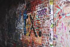 Portland - II (• CHRISTIAN •) Tags: usa étatsunis maine nouvelleangleterre newengland portland art streetart graffiti stickers autocollants tuyaux pipes mur wall urbain urban 50mm f14 explore