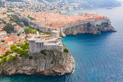 Bokar Fortress and the Old Town of Dubrovnik, Croatia