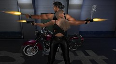 Our Turf (antoniohunter55) Tags: signature gianni maitreya bento catwa secondlife sl old boy motors evo vix backdrop hair nomatch night tunnel late taikou dc couple poses 109 gun biker vest onyx motorbike motorcycle explorer watch e re revox