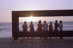 (Raúl Villalón) Tags: sunset sun sky silhouette tenerife loscristianos canaryislands summer spain color people beach nikon raulvillalon purple sea film 35mm filmphotography analog filmisnotdead staybrokeshotfilm f80 kodak