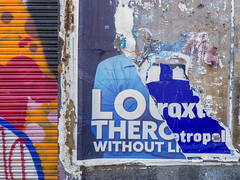 Southbank, Melbourne, Victoria, Australia. 2019-09-26 12:19:50 (s2art) Tags: southbank melbourne victoria australia posters outdoors torn wall abandoned kingsway colour color colours colors tornposter tornposters flaneur auspctaggedpc3006 pc3006 southbankpc3006 lo thero without rollerdoor fun funny flickr purple outside decoration historic history windows coveredwindows day daytime iphonexs text textimage graphic graphix grafitti texture pattern peeling peelingposters