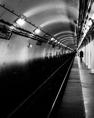The Blue Line (RW Sinclair) Tags: 2019 autumn carl chicago dscrx100m3 digital fall m3 october rx100 rx100m3 rx100iii sony variosonnar zeiss iii bnw blackandwhite monochrome street streetphotography cta transit railroad railway subway metro