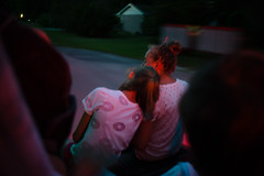 faded sounds of summer (Džesika Devic) Tags: leica blur cinematic cinematography truck drive driving friendship friends girls summer night neon red light grain road trip documentary