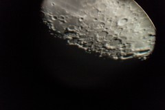 Close up Moon's south pole (lesaintsylvain) Tags: milky way galaxy stars night moon saturn planet planets lake long exposure forest trees exterior
