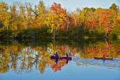 Evening Paddle (hessamt) Tags: fallfoliage autumncolors canoepaddle stillwaterriver skiticook penobscotriver oronomaine universityofmaine reflection mirror calm still serene evening magichour polarizer kayak