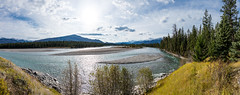 Athabasca River, Alberta, Canada (D85_0681-Pano) (swh) Tags: athabasca canada cloud mountain river sky trees jasper alberta