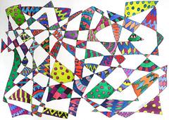 Watercolor Painting (Imara U.) Tags: watercolor watercolors aquarela art arte artista artist abstract painting pattern design colorful colors color colorido cores cor curves creation creative curvas caneta contemporaryart circles work