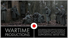 WW2 German Infantry for film and TV (Wartime Productions) Tags: wartime german ww2 living history group hurricane actor spotlight filming television model walk on supporting artist extra film tv movie body double skill stand in assistant director runner ad picture uniform uniforms period clothing hire utility casting reconstruction documentary greatcoat civilian kubelwagen vehicles wwii