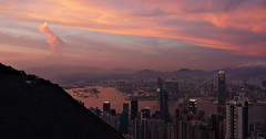 """retrospective: """"hong kong"""" (Jun 2007) (hugo poon - one day in my life) Tags: s5pro hongkong reminiscing retrospective charm dusk 2007 colours city kowloon victoriapeak victoriaharbour ifc skyscrapers architecture urban cloud icc thecenter sunset happyplanet asiafavorites"""