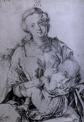 IMG_6325A Albrecht Dürer 1471-1528 Nuremberg Vierge à l'Enfant (Maria Lactans) 1512 fusain Virgin and Child (Maria Lactans) 1512 charcoal  Musée Wien Albertina (exposition temporaire Dürer)  Wien Albertina
