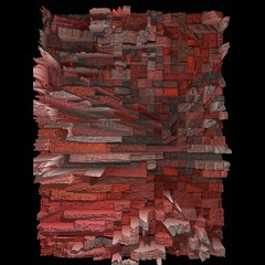 827 (MichaelTimmons) Tags: contemporaryart modernart fineart art digitalart artwork abstract digitalpainting red gray grey texture rectangles pixels