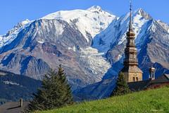 Clocher avec vue... (gerardcarron) Tags: canoneos80d church htesavoie landscape montblanc mountains combloux tamronsp90mmmacro