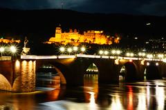 Heidelberg (Gernot Grebe) Tags: heidelberg schlos brücke nachtfotografie sterne dunkel sony alpha sonyalpha