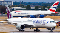 Airbus A350-941 A7-ALZ Qatar Airways - Oneworld Livery (William Musculus) Tags: plane airplane spotting aviation london heathrow lhr egll william airport musculus airbus a350941 a7alz qatar airways oneworld livery qr qtr a350xwb a350900xwb special scheme