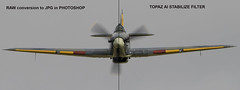Hawker Hurricane comparison before and after Topaz AI Stabilize (keithbrooks) Tags: topaz ai filter