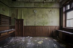 'Time to move forward'.... (Taken By Me Photography) Tags: abandoned adventure building closed creepy centre corridor class classroom clock derelict decay dark door d750 explore exploring empty eerie forgotten floor gone green hall left lancashire lesson nikon neglect north news old open pupil ruin religion religious shut school seminary stjos takenbyme takenbymephotography urbex urban ue uk upholland vacant wwwtakenbymephotographycouk wall window walls