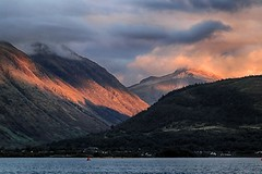 (OutdoorMonkey) Tags: corpach fortwilliam glennevis bennevis sgurramhaim scotland lochaber mountain mountainside hill hillside evening sunset cloud cowhill sunlight lochlinnhe outside outdoor countryside scenic scenery