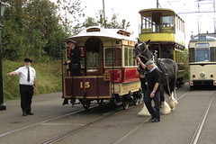 'Joseph' and 15 Crich Tramway Village (localet63) Tags: crichtramwayvillage 15 horsedrawn tramcar sheffieldcorporationtramways