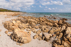 Biderosa beach 1 (robyus_84_) Tags: verde sardegna oasi biderosa clouds sea beach rocks sand