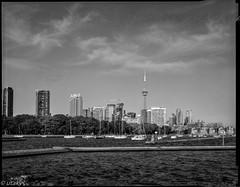 Toronto downtown (Uta_kv) Tags: rollei400rpx expiredfilm blackandwhitephotography graflex filmphotography bnw largeformat blackandwhite analog rollei400 4x5 film sheetfilm