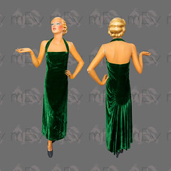 1950s Couture Green Velvet Sheath Gown (Rickenbackerglory.) Tags: vintage 1950s siegel mannequin coture green velvet sheathgown