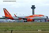 easyJet G-UZHR Airbus A320neo at London Stansted Airport takeoff