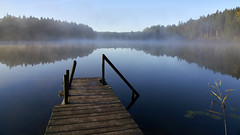 October morning at the Griessee / Oktobermorgen am Griessee (Alexander Kraus) Tags: morning rural mist autumn fall surise daybreak dream bavaria bayern chiemgau lake pond water landscape griessee early sunrise dawn romantic scenic