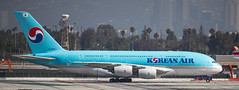 Korean Air A-380 at LAX (Alaskan Dude) Tags: travel california losangelesinternationalairport lax klax clutterspark imperialhill planewatching planespotting airplanes airlines airliners aviation spotting