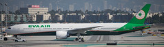 Eva Air 777-300ER at LAX (Alaskan Dude) Tags: travel california losangelesinternationalairport lax klax clutterspark imperialhill planewatching planespotting airplanes airlines airliners aviation spotting
