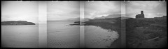 Sanday (Mark Rowell) Tags: canna sanday rum highlands scotland ilford hp5 diana dianarama 120 mediumformat panorama lofi blackandwhite film bw