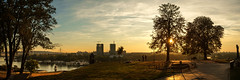 Sunset (mladencoko) Tags: sunset panorama belgrade kalemegdan sky urban landscape fujifilmxe1 colors goldenhour
