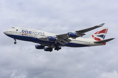 British Airways (Oneworld livery) Boeing 747-436 G-CIVL (josh83680) Tags: heathrowairport heathrow airport egll lhr gcivl boeing boeing747436 747436 boeing747400 747400 oneworldlivery oneworld livery one world britishairways british airways