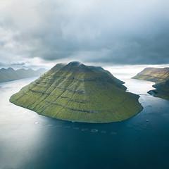 Underneath the Storm (Fabian Fortmann) Tags: drone dji mavic island storm clouds faroe islands färöer