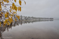 First white morning (timo.lauttajarvi) Tags: autumn lake visitlapland finland lapland laplandfinland landscape
