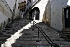 // (*F~) Tags: lisboa portugal alfama light darkness diagonal stairway architecture street streetsoflisbon