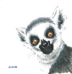 lemur (michailovaster) Tags: lemur animal illustration ilustração copicmarker graphic drawing handdrawing white markers minuature иллюстрация лемур рисунок маркеры животные