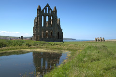 Whitby Abbey reflections (Tony Worrall) Tags: yorkshire yorks scene scenery northyorkshire resort yorkshirephotos east eastern seasidetown holidays tourists coast photographsofwhitby whitbyphotos whitby scenic beauty place venue whitbyabbey reflection pool lake wet water view nice north update location uk england visit area attraction open stream tour country item greatbritain britain english british gb capture buy stock sell sale outside outdoors caught photo shoot shot picture captured ilobsterit instragram