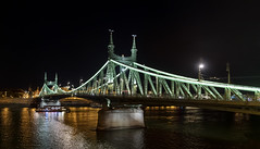 Liberty Bridge, Budapest / Мост Свободы, Будапешт (dmilokt) Tags: город пейзаж ночь река венгрия корабль ship мост bridge city landscape night river hungary dmilokt