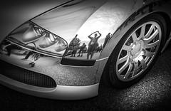 SELFIE (Dave GRR) Tags: bugatti veyron supercar sportscar hypercar luxurycar cars coffee auto show toronto olympus monochrome mono black