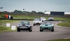 Goodwood Revival - Aston Martin Ferrari dual (Velosnapper) Tags: ferrari astonmartin ac cobra race goodwood motor blue green