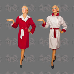 Fully Reversible 1940s Car Coat (Rickenbackerglory.) Tags: vintage 1940s siegel mannequin reversible carcoat