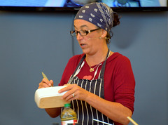 Vegan cook Jackie Kearney cooking demo at Manchester Food & Drink Festival 2019 (Tony Worrall) Tags: chef stage event show entertain manchester gmr annual mfdf woman vegan veggie cook cookery cooking demo okingdemo manchesterfoodfestival jackiekearney masterchef headscarf update place location uk england visit area attraction open stream tour country item greatbritain britain english british gb capture buy stock sell sale outside outdoors caught photo shoot shot picture captured ilobsterit instragram