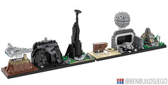 Rogue One & A New Hope skyline MOCs