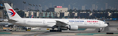 China Eastern 777-300 at LAX (Alaskan Dude) Tags: travel california losangelesinternationalairport lax klax clutterspark imperialhill planewatching planespotting airplanes airlines airliners aviation spotting