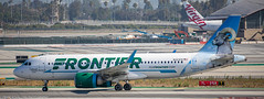 Frontier A-320 at LAX (Alaskan Dude) Tags: travel california losangelesinternationalairport lax klax clutterspark imperialhill planewatching planespotting airplanes airlines airliners aviation spotting