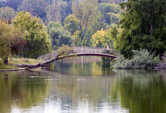 Morning walk (Dumby) Tags: landscape bucurești românia tineretului park fall autumn m42 canoneos40d lake bridge
