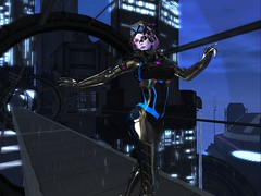 Fumiko Dancing in the Rain On a Bridge (raininoue) Tags: firestormsecondlife sole bfi ghoul theforge eliavah maitreya kosmii catwa krova lab737 azourysecondliferegioninsilicoeastsecondlifeparcelinsilicone34cyberpunkroleplaysecondlifex134secondlifey152secondlifez3665