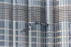 Fensterputzer Burj Khalifa - window cleaners burj khalifa (hwl.weber) Tags: dubai vereinigtearabischeemirate nikond750 fx