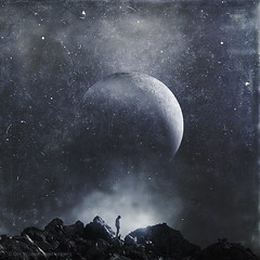 pressures (Dyrk.Wyst) Tags: himmel landschaft lanzada atmosphere clouds landscape mood mountains nature outdoors photomanipulation monochrome moon solitude dreamy composite silver grunge behance lombardia italien